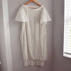 Akmei + Kin Anthropologie White Gauze Tunic Dress